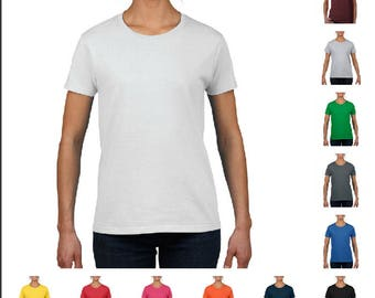 Women's Blank Fashion T-Shirts for Arts and Crafts Projects