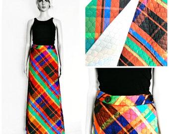 Vintage Skirt - Maxi Skirt - Festival Skirt - Wrap Skirt