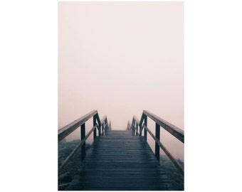 Stairs Photo - Misty Photography - Misty Road Print - Vertical Photo - Digital Photo - Digital Download - Instant Download - Printable