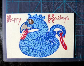 Hand Drawn Occamy Holiday Card