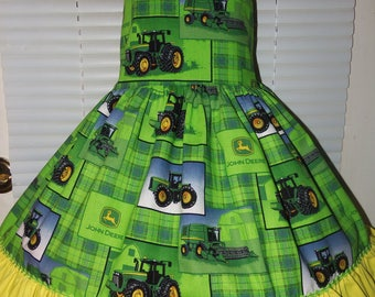 Farm Girl  peasant twirl dress ruffle  Girls - Pageant Dress - Birthday Party Dress  Size 2t to 8 Ready to Ship