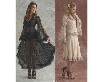 Sewing Pattern for Misses' Lace Blouse and Skirt In Two Styles, Alternative Bride or Cosplay, Simplicity Pattern 8362