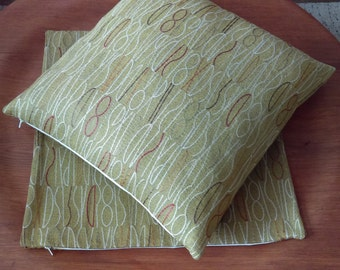 PAIR of Modern PILLOW COVERS Cases Handmade Zippered Mid Century Modern Accent