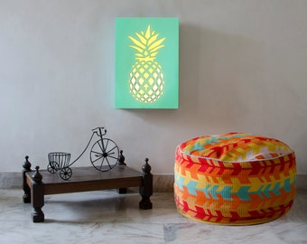Wood Wall Art, Wall Light, Wall Decor, Wall Lamp, Sconce, Pineapple, Laser Cut Lamp, Laser Cut Light, Lights, Laser Cut Wood, Home Decor