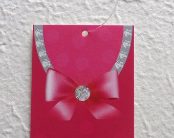 100 FASHION TAGS CLOTHING Tags Accessories Tags Price Tags  Cute Diamonds On Pink Bow Retail Tags with  Plastic Loops