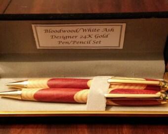 SALE**Wood Pen/ Pencil Set