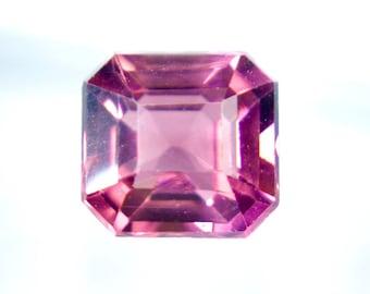 Natural Pink Tourmaline Emerald Cut 6.6mm 1.50cts