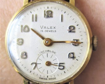 Ladies Vintage Gold Plated Valex Mechanical Watch + Sub Dial for Sale
