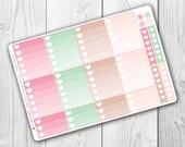 Planner Girl Ombre Heart Boxes, Planner Stickers, Erin Condren Vertical, ECLP