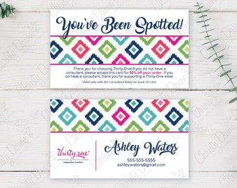 Thirty One - You've Been Spotted Card - Candy Corners (template)