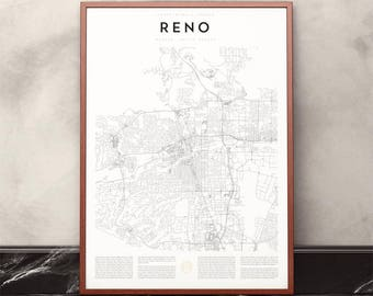 Reno Map Print