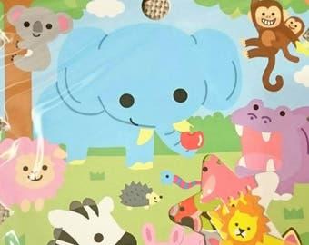 "Q-lia / ""Zoo"" sticker flakes, 50 pieces, 7 designs, sticker flake lot, kawaii sticker sack, bag of stickers"