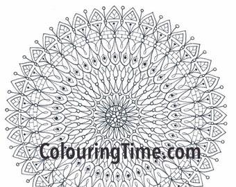 Serenity - Hand Drawn Colouring PDF Printable