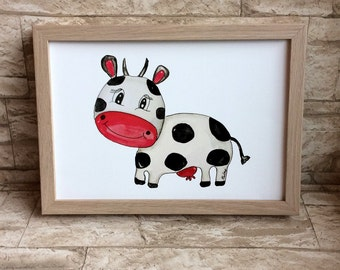 Nursery picture little cow