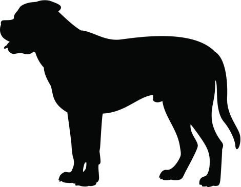 Pack Of 3 Mastiff Stencils Made From 4 Ply Mat Board