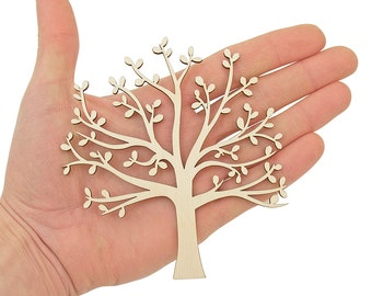 Sapin en bois (12cm) forme arbre bois Art projets Craft Noël décoration cadeau découpage Laser coupe MG000465