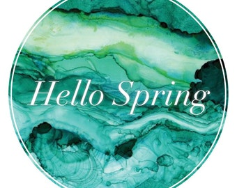 Hello Spring- digital download, instant purchase