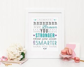 Always Remember Wall Print | Wall Art | Printable Art | Poster | Art | Modern Prints | Home Decor | Decorative Print