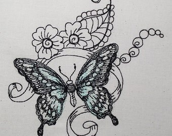 Butterfly green sppringtime 5x7