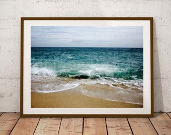 Aqua Home Decor, Aqua Wall Art, Aqua Wall Decor, Print Poster, Print Art, Prints For Bathroom, Bathroom Art Prints, Gold Art Print, Gold Art