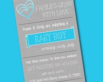 Baby Boy Adoption Announcement