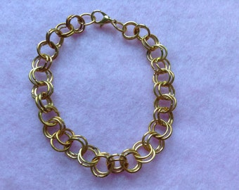 Rose Gold Plated Chain Maille Bracelet