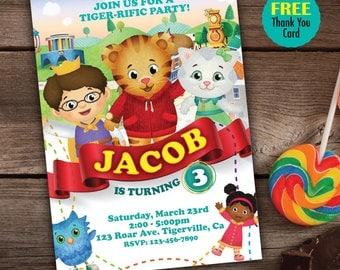 Daniel Tiger Invitation, Printable Daniel Tiger Party, Daniel Tiger Birthday, Daniel Tiger Invite, Boy Invitations, Daniel Tiger