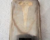 Vintage cigarette case silver plated EPNS cigarette holder vintage tobacciana Monogram H. M. Silver plated card case. Gift for him.