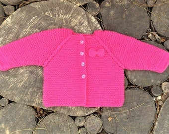Baby girl cardigan baby cardigan chunky knit sweater baby girl sweater toddler girl sweater newborn sweater wool sweater pink baby sweater
