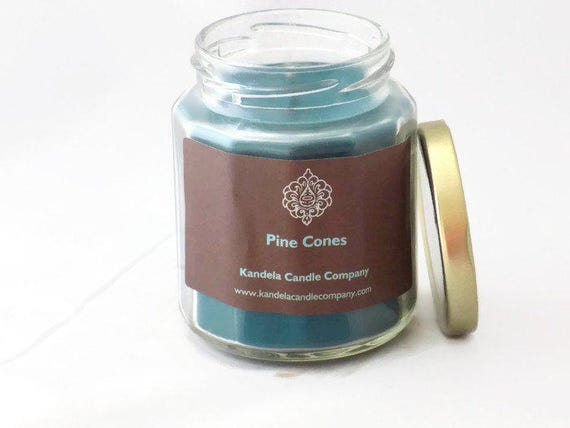 Pines Cones Scented Candle in Twelve Sided Jar