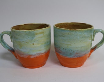 Ceramic mugs, ceramic mug set, ceramic mug pottery, ceramic mug stoneware,