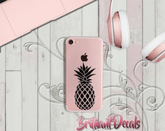 pineapple  iPhone decal, pineapple  sticker, girly decal, iPhone Custom Decal. iPhone trendy decals,Sticker, phone decal, phone sticker
