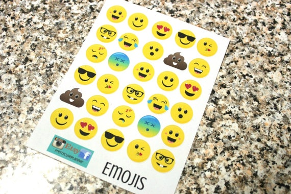 Planner Stickers - Emoji Stickers - Reminder Stickers -Poop Emoji Stickers - Smiley Face stickers - Fits Erin Condren - Happy Planner