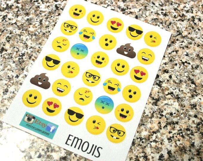 Planner Stickers - Emoji Stickers - Reminder Stickers -Poop Emoji Stickers - Smiley Face stickers - Fits Erin Condren - Happy Planner