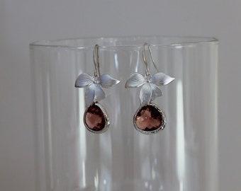 Lan earrings silver/purple