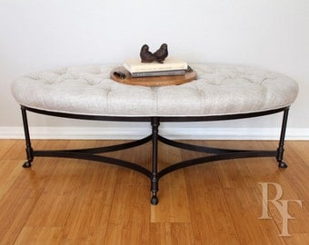 Tufted Ottoman, Coffee Table, or Bench