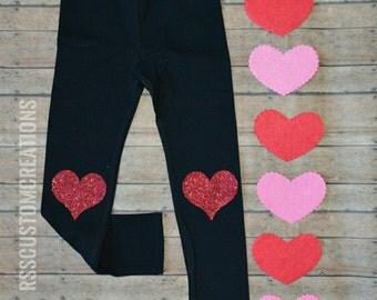 Valentine's Day Leggings, Baby Girl Valentine's Leggings, Girl Valentines Day Pants, Choose Your Colors,Custom Made Leggings