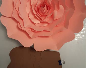 Paper Flower Template PDF digital and  mini rose template and  tutorial #28