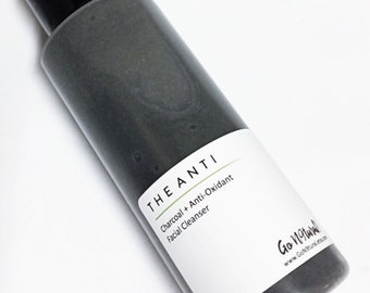 THE ANTI: Charcoal + Bentonite Clay Face Cleanser. Deep Cleanser. Facial Wash. Glycolic Cleanser. Acne Cleanser. Oily Skin. Skincare.