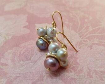Pearl Earrings, June Birthstone Jewelry, Bridal Earrings, Wedding Earrings, Earrings, Gemstone Jewelry, Gold Pearl Earrings, Girlfriend Gift