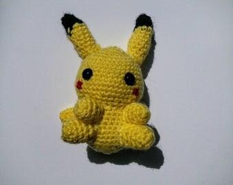 Handmade crochet Pikachu