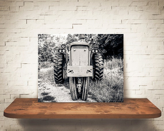 Tractor Photograph - Fine Art Print - Black & White Photography - Wall Art - Industrial -  Farm Pictures - Farm House Decor - Tractors