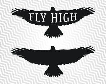 Eagle Svg, Fly High Graphic, Cutout, Vector art, Cricut, Silhouette Cameo, die cut, instant download, Digital Cut, Print Files, Ai, Pdf, Svg