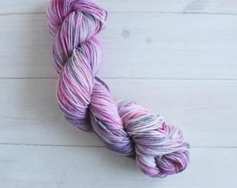 Kirby: Nintendo themed hand dyed 100% cotton vegan aran weight yarn