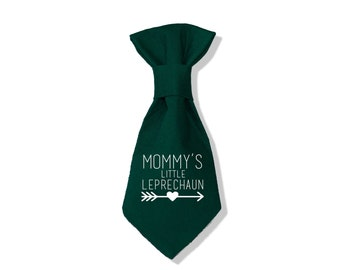 St Patrick's Day Dog -Neck Tie - Dog Clothes - Mommy's Little Leprechaun
