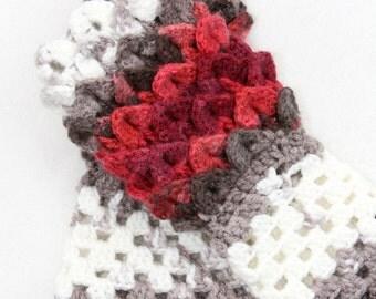 Crochet Dragon Scale Gloves - Fingerless Dragon Scale Gloves - Dragon Scale Hobo Gloves - Women's Fingerless Gloves - Crochet Ladies Gloves