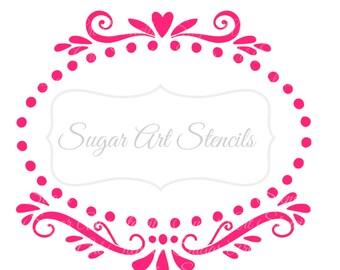 Cookie stencil frame love wedding Nb60030