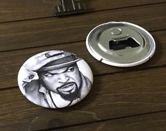 Magnetic Bottle Opener. Bottle Opener. Ice Cube. Small Gifts. Refrigerator Magnet. Fridge Magnet Set. Ice Cube Art. Stocking Stuffers.