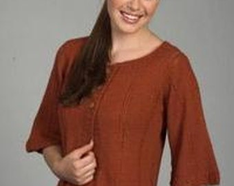 Knitting Pattern - Sweater - 1555 Bell Sleeve Alpaca Cardigan - On Sale 30% Off - Printed Pattern
