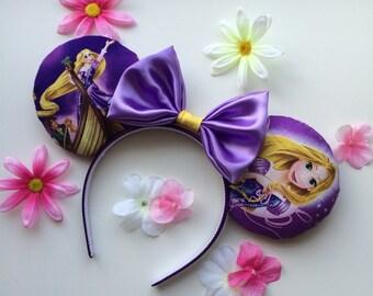 Rapunzel Tangled Mickey Minnie Mouse Ears Flynn Rider Pascal Head Band Headband